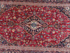 7x10 RED HANDMADE VINTAGE WOOL RUG HAND-KNOTTED ORIENTAL ANTIQUE navy blue 6x10