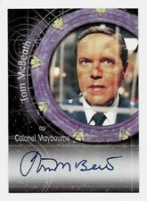 Stargate SG-1 TOM McBEATH as Colonel Maybourne Autograph Card A15