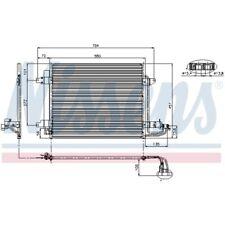 1 Condenseur, climatisation NISSENS 94690 convient à VW