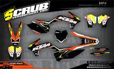 KTM graphics EXC 125 250 300 450 500 2014 2015 2016 '14 '15 '16 SCRUB decals