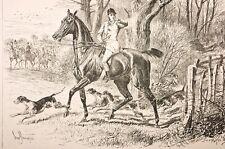 """scène de chasse anglaise, ext d'un journal vers 1880 """"the illustrated.."""""""