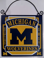 Michigan Wolverines Sign University College Licensed Wood Fan Football NCAA