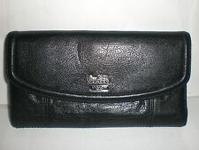 AUTHENTIC COACH BLACK LEATHER WALLET USED WITHOUT TAGS IMPERFECT $238.00 RETAIL