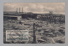 1935 novosibirsk Russia USSR Zeppelin stamp Postcard Cover to Italy  # C 21