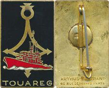 TOUAREG, Escorteur, émail, rectangle, dos lisse, A.B.+ Poinçon (1)