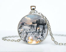Star Wars Photo Cabochon Glass Tibet Silver Chain Pendant Necklace AAA39