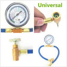 1 Pcs R134A to R12/R22 Car Air Conditioning Refrigerant Recharge Hose+Can Gauge