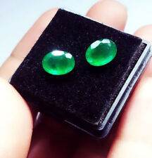 Natural Loose Gemstone 1 to 1.50 ct Each 2 Pieces Pair Of Zambian Emeralds