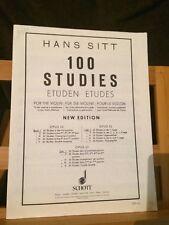 Hans Sitt 100 études pour violon vol. 1 première position méthode édition Schott
