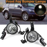 Pair Front Halogen Fog Lights Lamps Left + Right For Honda CR-V CRV 2007-2009