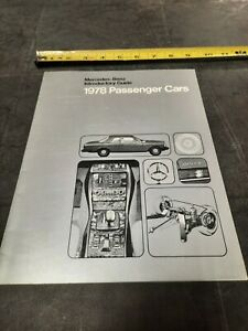 1978 Mercedes-Benz Passenger introductory Guide Dealership Auto Brochure Catalog