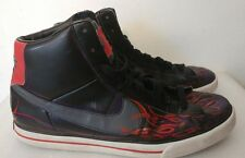 Mens Nike 354701-013 Hand painted blue flames rare size 13 see pics hipster
