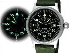 Aeromatic 1912 Armbanduhren mit Textilgewebe-Armband für Herren