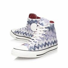 Converse All Star Hi Tops UK Size 9 EUR 44 Men Trainers Shoes High White Blue