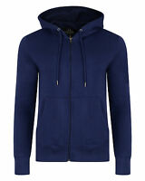 SMITH & JONES New Full Zip Hooded Sweatshirt Fleece Hoodie Hoody Patriot Blue