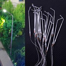20pcs 1:100 TT Gauge Railway Train Model LED Lamp Post Street Scenery Lights 3V