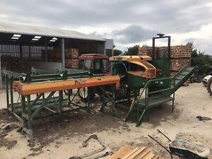 Posch K4000 Firewood Processor. Forestry Logs