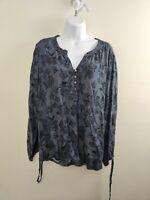 Women's Liz Claiborne Chambray Print Tunic Size L