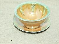 Vintage Lusterware Mayonnaise Set Bowl & Plate Japan
