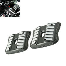 CNC Black Rocker Box Covers For Harley Sportster Iron 883 Forty Eight XL 04-17