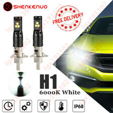 Pair H1 CSP LED Headlight Bulb 448 Hid 6000K Super White 80W V5 For Honda Civic