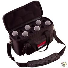 Gator GM-12B Padded Bag Nylon Carrying Case for Microphones w/ Exterior Pockets