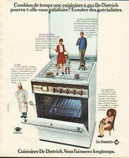Publicité 1974  Cuisinière à gaz DE DIETRICH