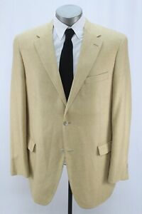 mens mustard yellow GRAHAM & GUNN blazer jacket silk wool sport suit coat 46 L