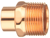 """Copper Male Adapter Fitting Connector 1-1/2"""" C X 1-1/2"""" MIP Sweat x Thread"""