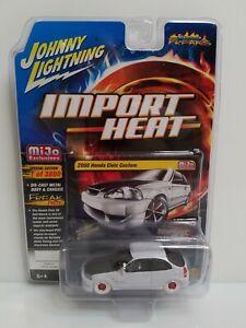 Rare Johnny Lightning Import Heat 2000 Honda Civic White Lightning Chase 1 Of 72