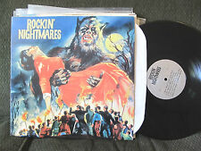 Various V/A ROCKIN' NIGHTMARES LP rare early rock n roll halloween 50's horror!!