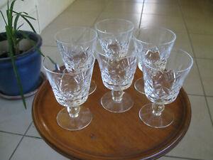Set of 6 Vintage Stuart Crystal Wine glasses
