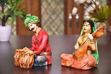 Rajasthani Couple Cultural Statue Showpiece for Home Decor
