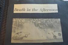 Vintage Newspaper Clippings Racing Crashes 1969 Daytona & Don Garlits 871