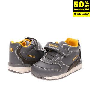 GEOX RESPIRA Kids Leather Sneakers EU 20 UK 3.5 US 4.5 Antibacterial Breathable