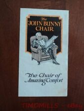 1925 John Bunny Chair Furniture Catalog Brochure Upholstered Vintage Original