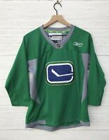 Vancouver Canucks NHL Alternate Green Reebok Practice Jersey Size L/XL