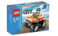 Lego City Town 7736 Coast Guard Quad Bike Helmet Flag Minifigure NISB