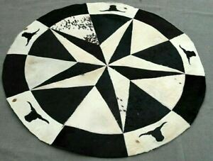 """100% Real Handmade Natural Cowhide Leather Carpet Area stitched  60"""" Carpet-2"""