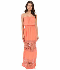 6 Shore Road by Pooja Charlotte Maxi Dress Cover-Up Sz M Watermelon (K24)