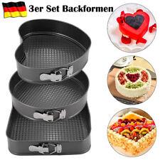 Backformen SET 3-tlg. antihaft Springform Herzbackform eckig Kuchenform Torte DE