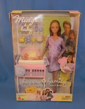 Mattel Happy Family Red Hair Pregnant Midge & Baby MIB