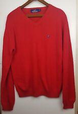 Giovanni Galli Men's Red 100%  Cotton Pullover Jumper Size XL EU 52