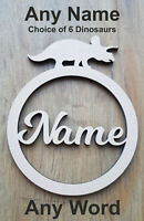 6 mm Thick MDF Wooden Name Letters Dinosaur, Heights 10 cm to Large 60 cm