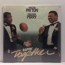 Walter Payton William Perry - Rappin' Together LP - SEALED Original - 1985 Bears