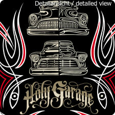 Holy Garage Poster Hot Rods Kustom Kulture Makoto Pinstriping StreetRod Rat Fink