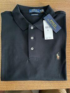 Men's Ralph Lauren Polo Shirt. Black. XL Custom Slim Fit NWT