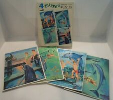 "Vintage Whitman ""Flipper"" Frame-Tray Puzzles - with original box - 1966 RARE"