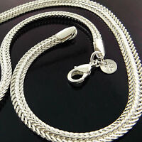 Necklace Chain Real 925 Sterling Silver S/F Solid Ladies Antique Link Design