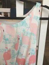 Modcloth Everly Adorable Flamingo Dress NWOT S